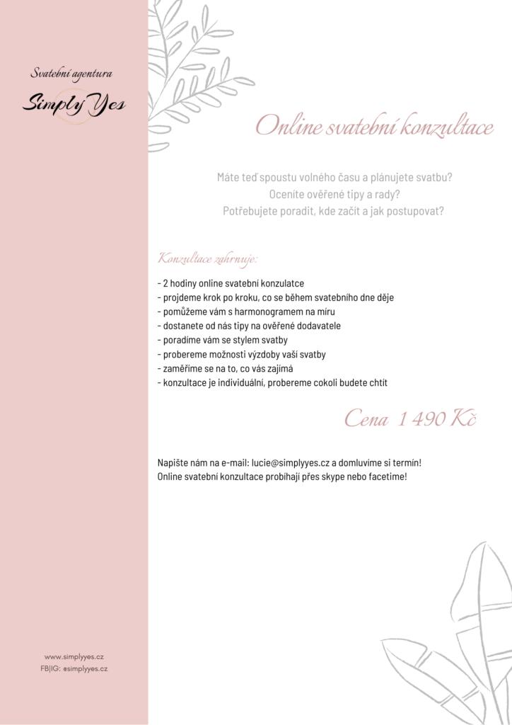 Online Svatební Konzultace | Svatební agentura SimplyYes - Ostrava
